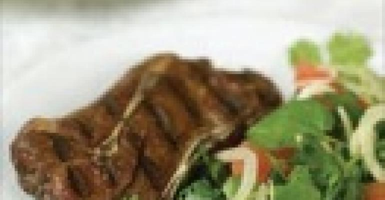 Five-Spice Australian Lamb Shoulder Chops and Ruby Grapefruit-Fennel Slaw
