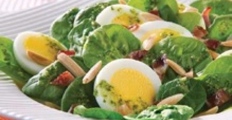 Spinach Pesto Salad