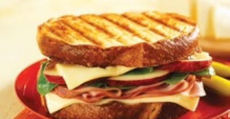 Sharp Sweet Ham & Cheese Sandwich