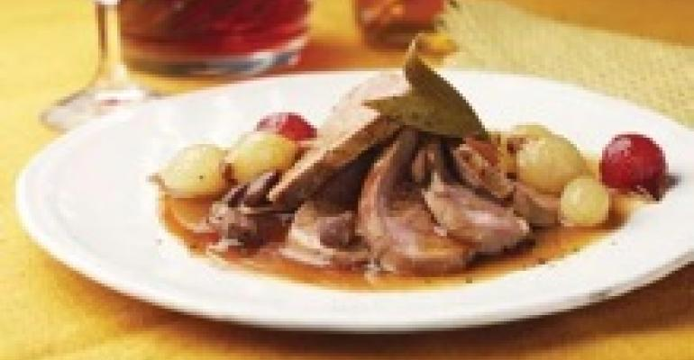Seared Duck Breast in Sherry Vinegar and Lavender Honey Reduction