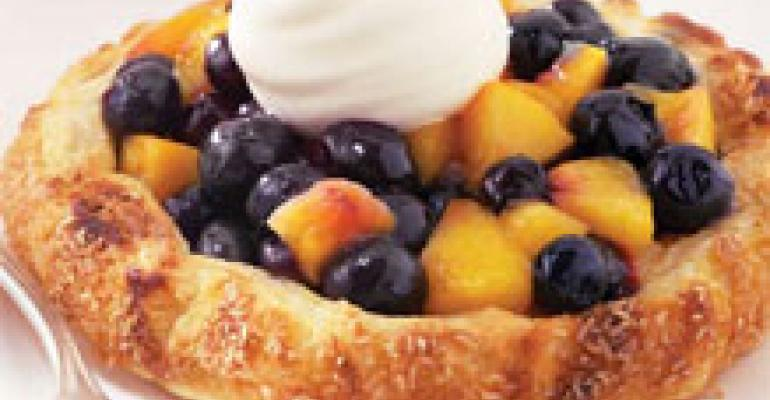 Rustic Blueberry Nectarine Crostata