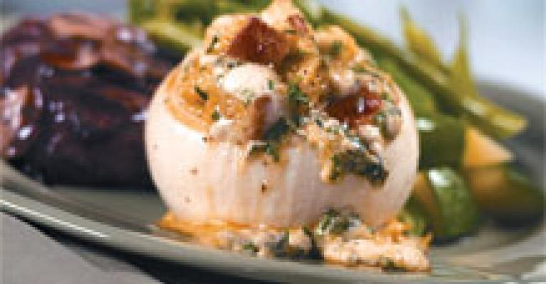 Roasted Gorgonzola- Stuffed Sweet Onions