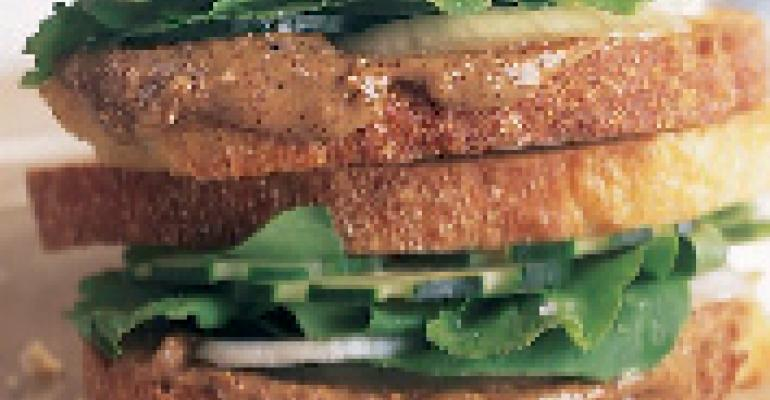 Almond Butter Club Sandwich