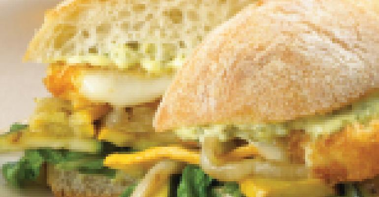 Grilled Wisconsin Italico Cheese-Vegetable Sandwich