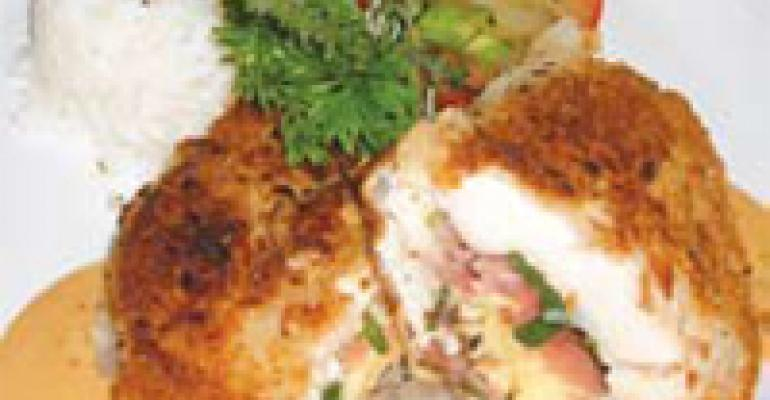 Pan-Roasted Macadamia Nut-Crusted Breast of Chicken