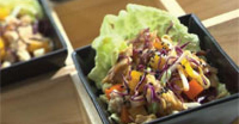Tangerine Chipotle Lettuce Cups