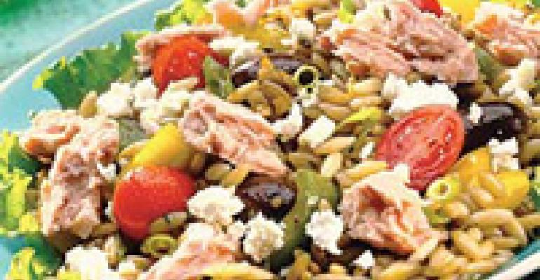 Salmon Orzo Salad