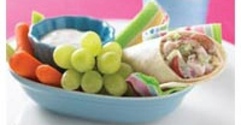 Chicken Salad Grape Wrap