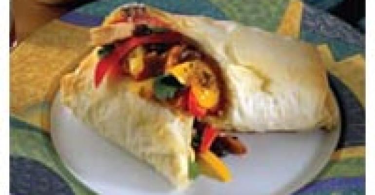Smoked Chicken and Black Bean Phyllo Burrito