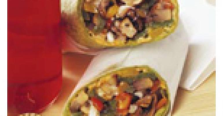 Portobello Mushroom Wrap