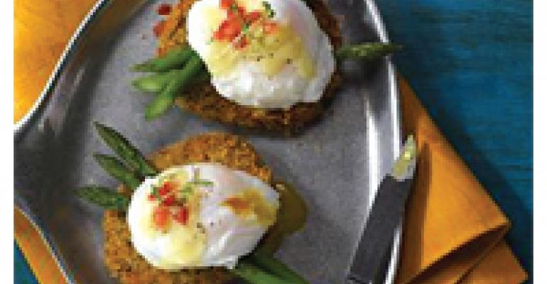 Idaho Potato Cake Benedict