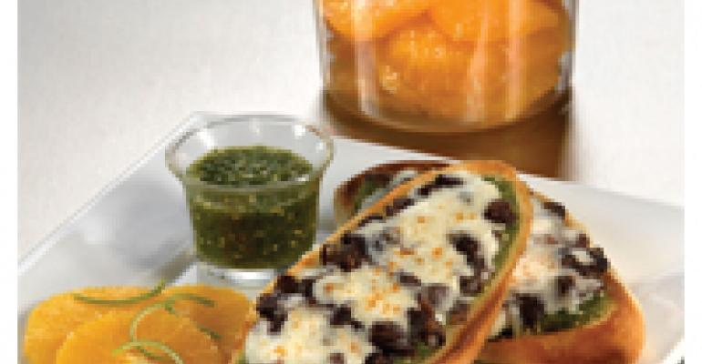 Mollete Mexican Breakfast Sandwich