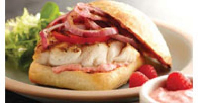 Rock Cod Sandwich with Raspberry-Chipotle Mayonnaise