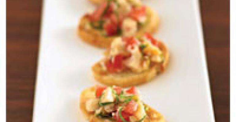 Sea Clam Bruschetta