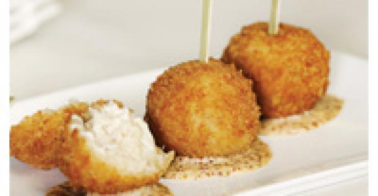 Crab Mac & Cheese Lollipops