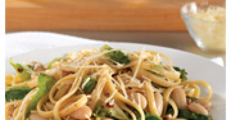 Pasta with Escarole and Cannellini Beans