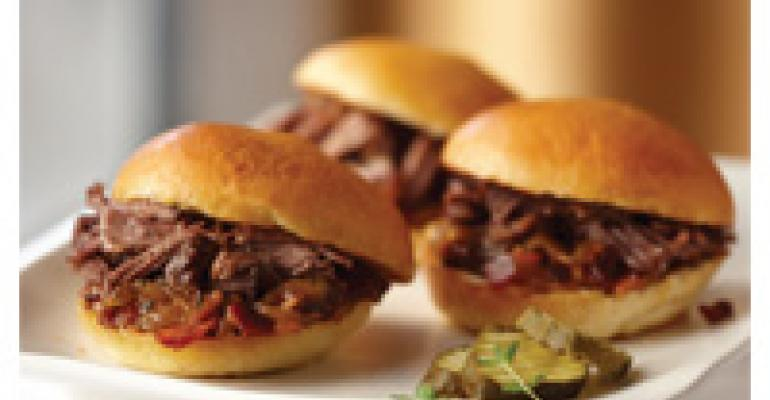 Sun Dial Short Rib Sliders