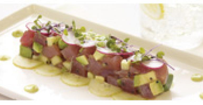 Tuna Tartare with Avocado, Scallions and Organic Soya