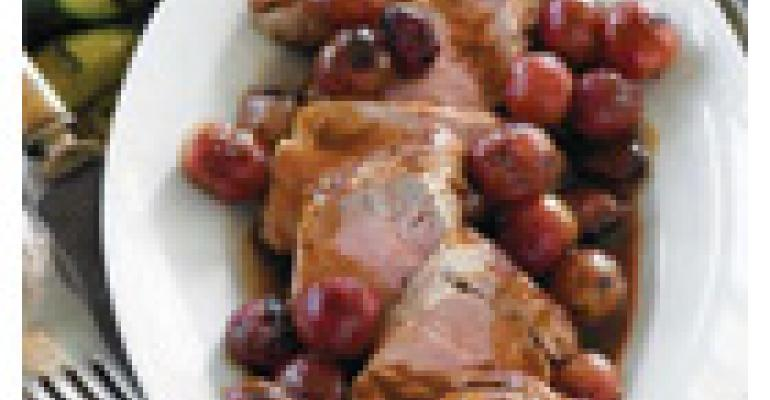 Pork Tenderloin with Roasted Grapes and Balsamic Glaze