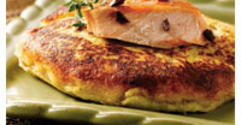 Potato Cake with Columbia River Smoked Salmon