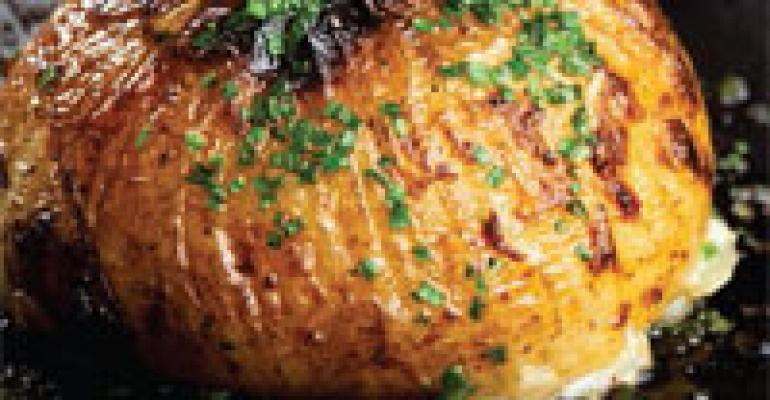 Stuffed Sweet Onion and Potato Gratin