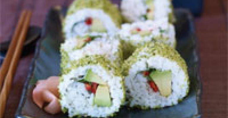 Crunchy Avocado Roll