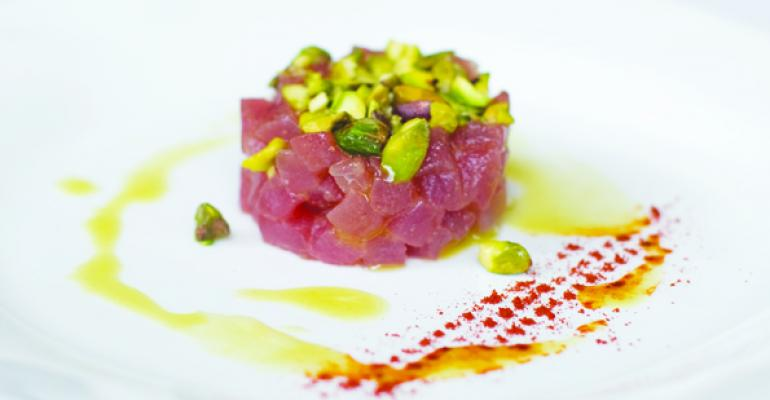 Tuna Crudo with Pistachios