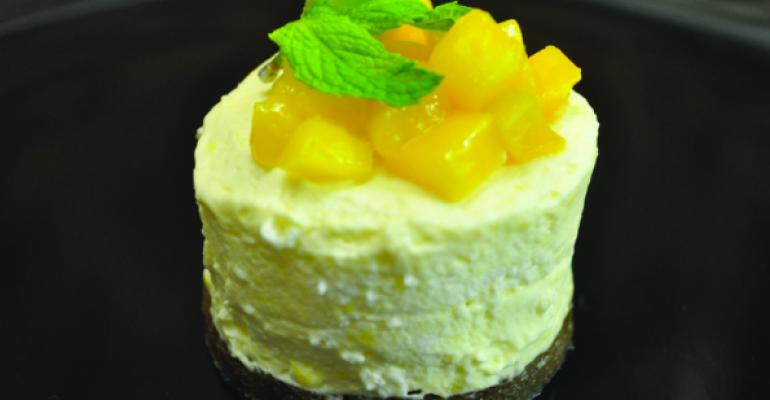 Mini Mango Lime Mousse Tart