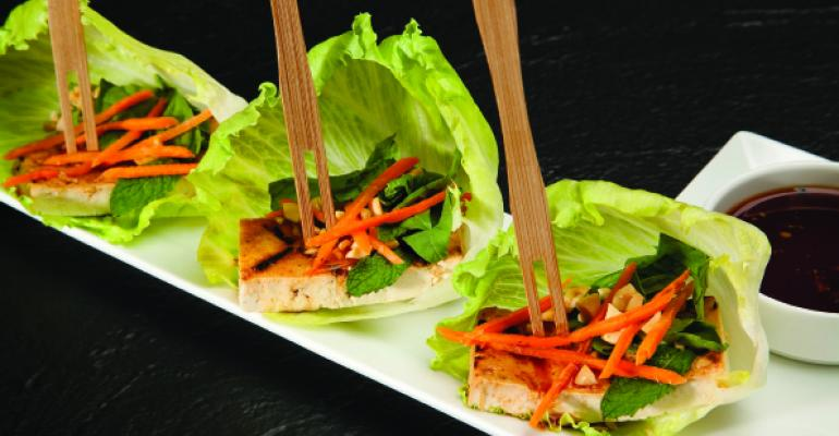 Lettuce Wraps with Spicy Grilled Tofu