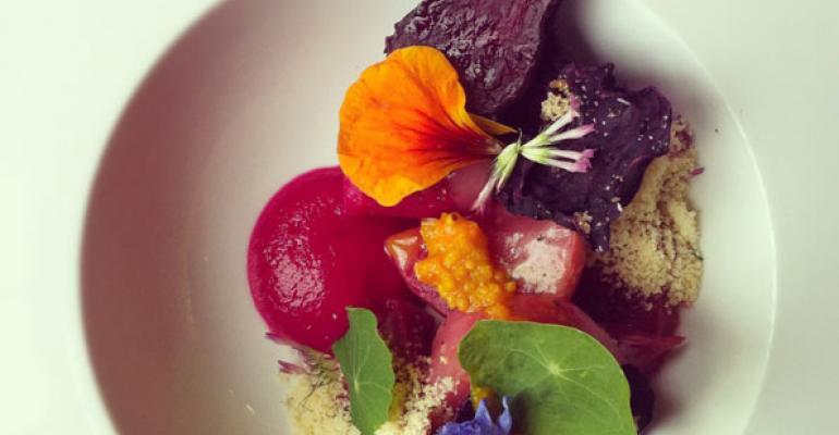 Chef Kevin Sousa captured a beet dish in an Instagram photo