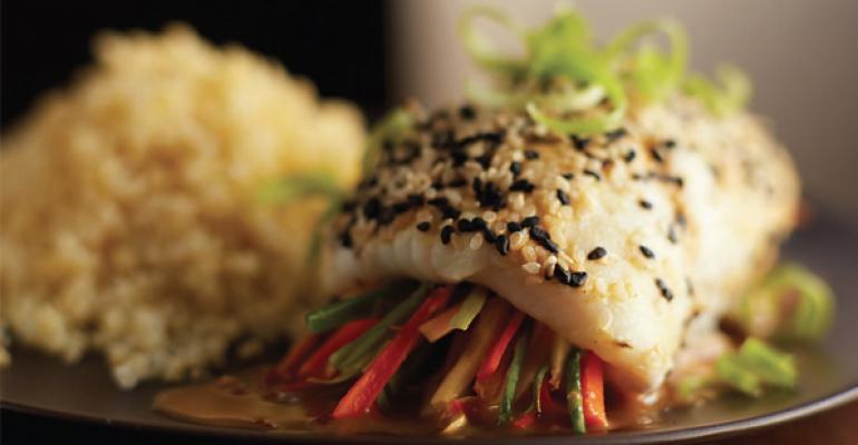 Sesame Seared Sole Roll