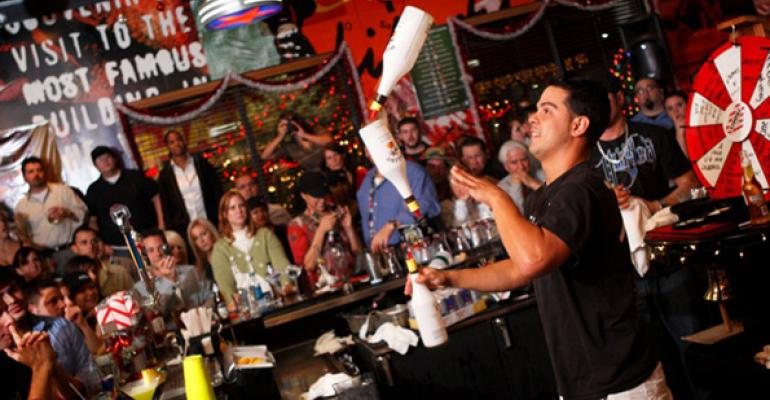 Customers who order alcoholic beverages often leave tips of 20 percent or more per check