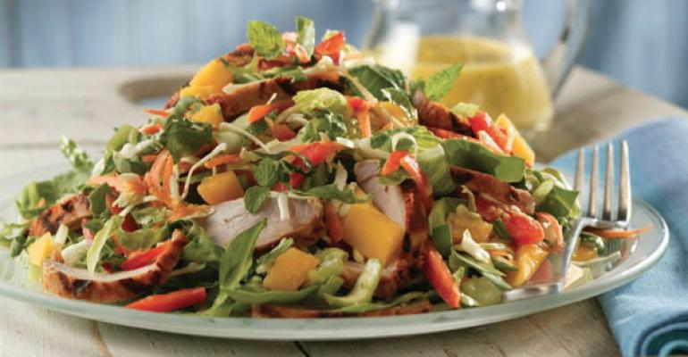 Thai Pork and Mango Salad with MangoMint Dressing