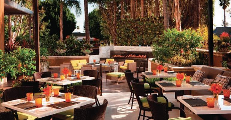 Williamsrsquo prize for winning Chef Wanted with Anne Burrell A job at Culina with its stunning indooroutdoor design and this lush garden terrace