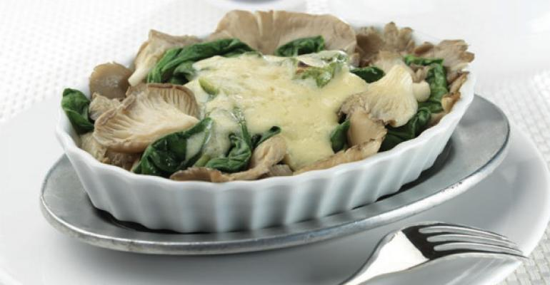 Oyster Mushrooms Rockefeller