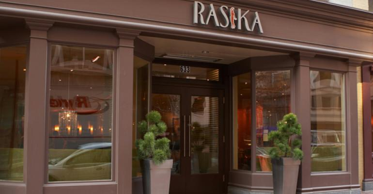 Rasika serves modern Indian fare