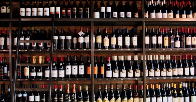 Wines are grouped and displayed on a wall not by varietal or region but by taste Photos by Lasco Enterprises