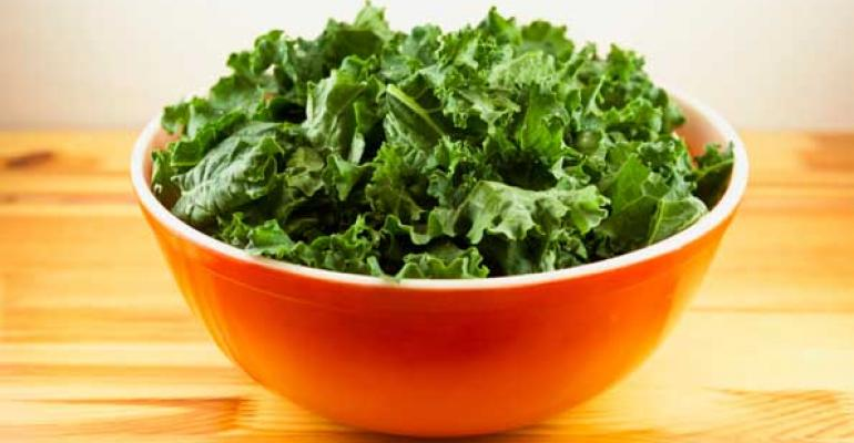 Mentions of kale on menus have risen nearly 400 percent