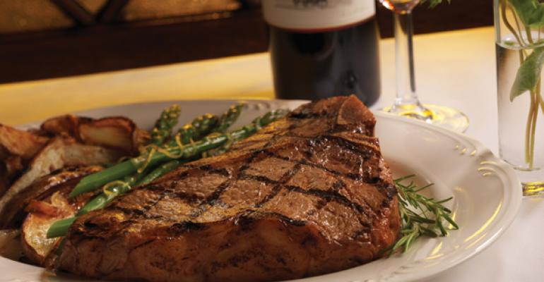 Porterhouse for Two with Lemon Potatoes and Asparagus