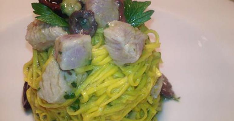 Spaghettini al Pesto alla Pantesca