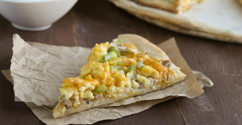 Sausage, Potato and Scallion Breakfast Pizza