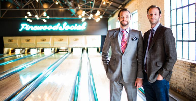 The brains behind Pinewood Social are brothers Max and Ben Goldberg