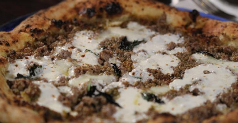 Pistachio and Sausage Pizza