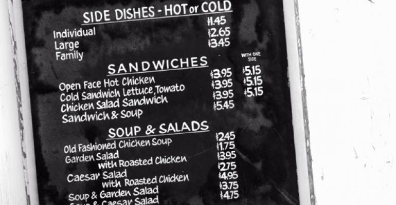 Menus: The higher price may be right