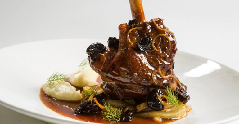 Braised lamb shanks rise in the ranks