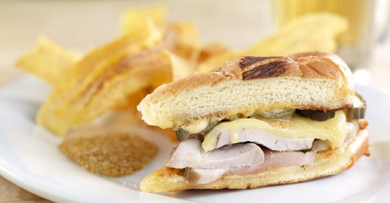 Cubano Sandwich with Plaintain Chips