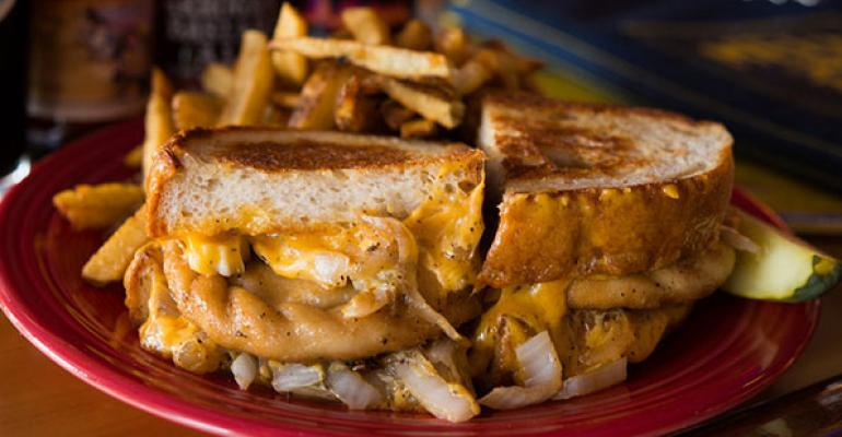 The Parmageddon at Melt Bar amp Grilled features a potato amp onion pierogi fresh napa vodka kraut sauteacuteed onions and sharp cheddar