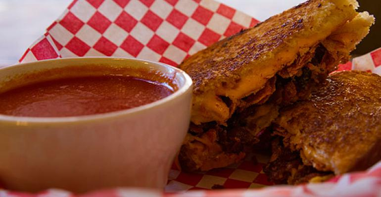 TomChee39s BBQBacon features BBQ potato Chips bacon and American cheese on white