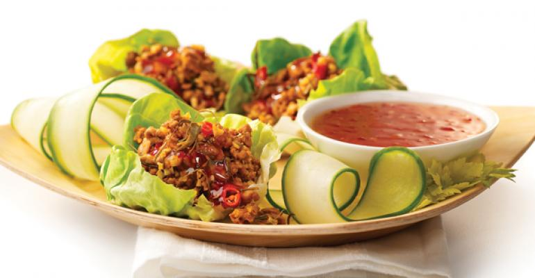 Sweet and Spicy Thai Lettuce Wraps