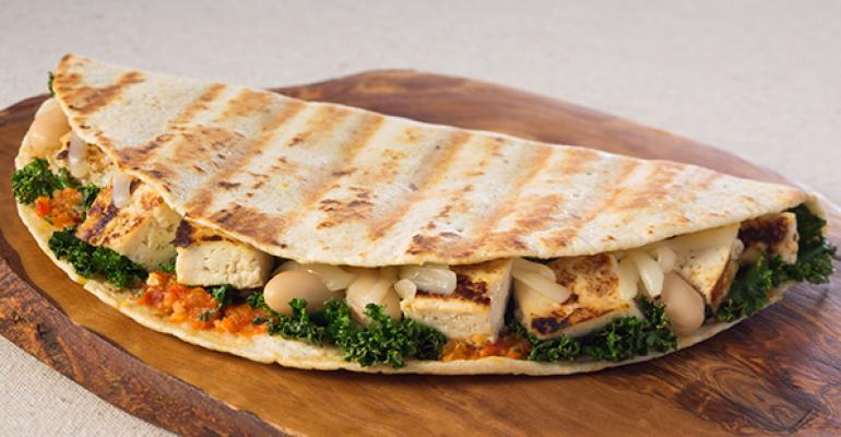 Honey and Garlic Grilled Tofu Panini